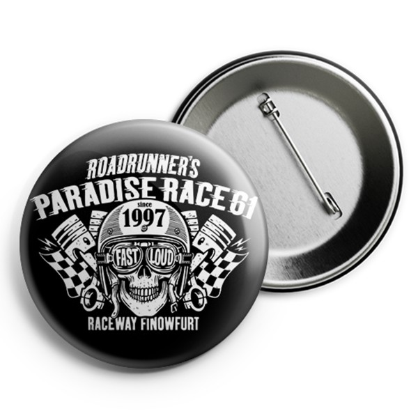 Race 61 Button Fast Loud 2,5cm