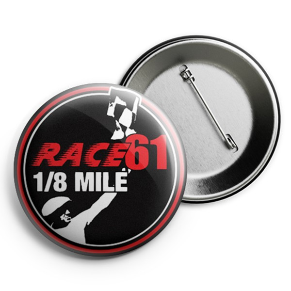 Race 61 Button R61 Logo Rot 2,5cm