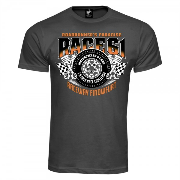 Race 61 T-Shirt 1/8 Mile Race Challenge Grau