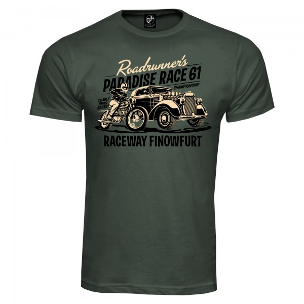 Race 61 T-Shirt 1/8 Mile Drag Races Championship Khaki