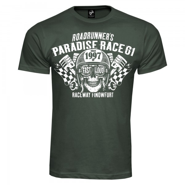 Race 61 T-Shirt Fast Loud Khaki
