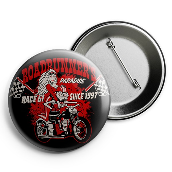 Race 61 Button R61 Wheely 2,5cm