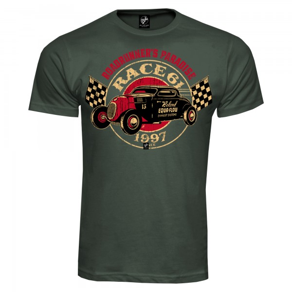 Race 61 T-Shirt Belod Equa Flow 13 Khaki