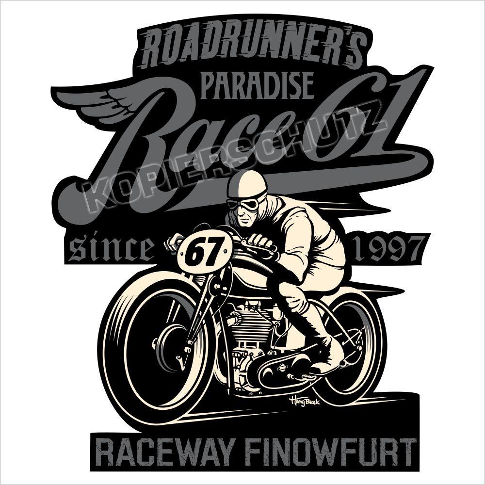 Race 61 Aufkleber / Sticker Oldschool Bobber 67