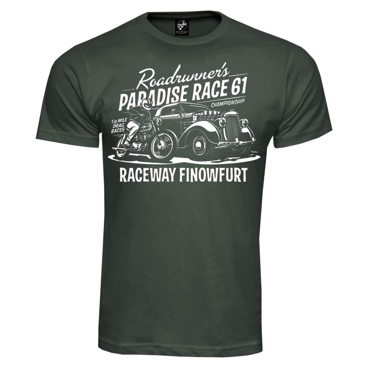 Race 61 T-Shirt 1/8 Mile Drag Races Championship Khaki