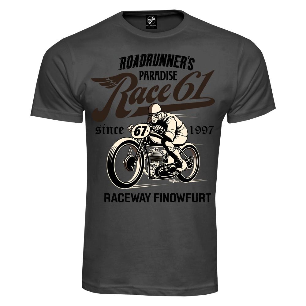 Race 61 T-Shirt Oldschool Bobber 67 Grau