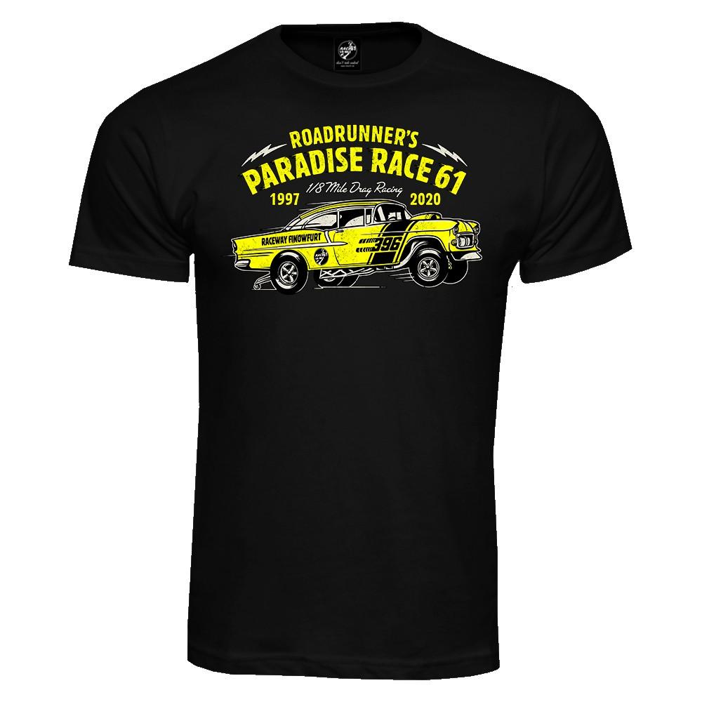 Race 61 T-Shirt 1997-2020 Frontprint Schwarz